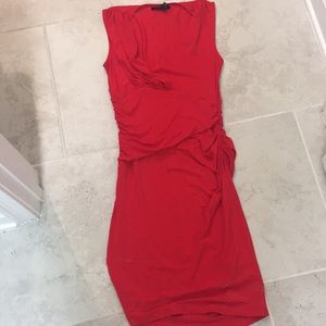 Kenneth Cole red midi dress xs